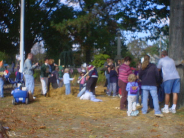 Families Making Scarecrows