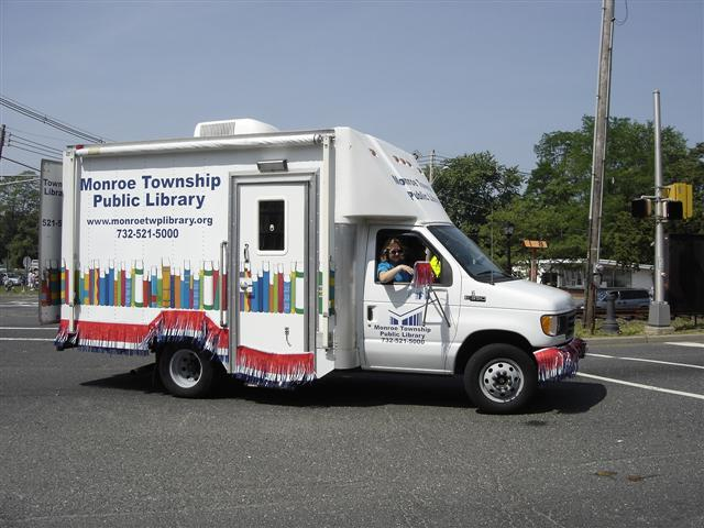 The Monroe Township Library Bookmobile.