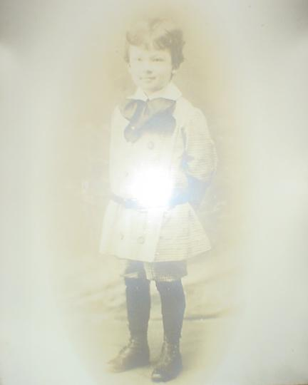 Ralph E. Marryott as a Young Boy on display at Lakeview
