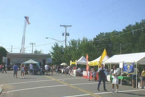 A scene from the Annual Tonkery Day Street Festival.