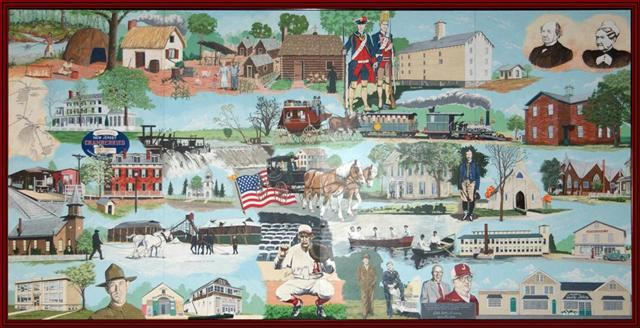 Jamesburg's History Mural located @ Borough Hall